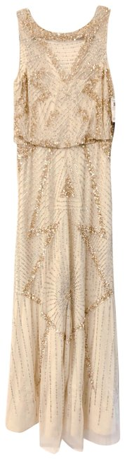 Item - Light Gold 054448630 Long Formal Dress Size 6 (S)