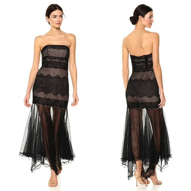 Item - Black Heritage Strapless Lace Gown Long Cocktail Dress Size 8 (M)