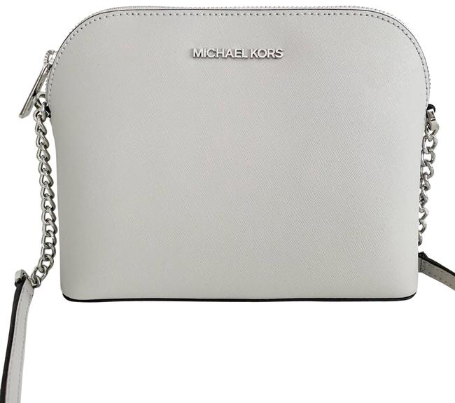 Item - Large Cindy Grey / Silver Leather Cross Body Bag