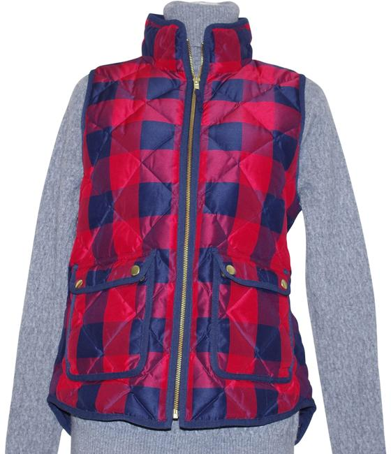 Item - Red Navy Excursion W & Buffalo Check Down Vest Size 2 (XS)
