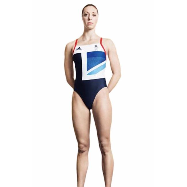 Item - Red Blue White Team Gb Olympics Swimsuit One-piece Bathing Suit Size 6 (S)