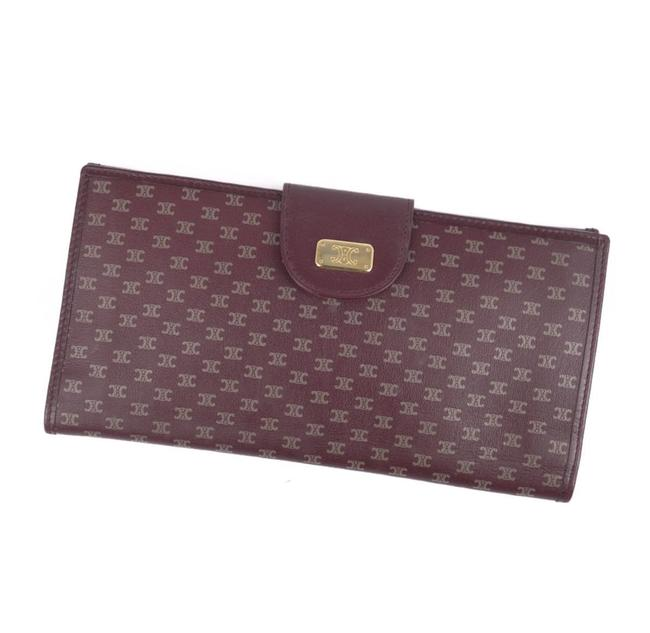 Item - Burgundy Long Diffusion Triomphe Folded Leather Ladies Wallet