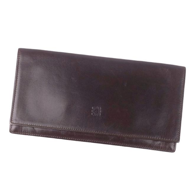 Item - Brown / Dark Brown Anagram Calf Leather Bi-fold Men's Wallet