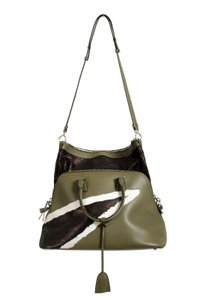 Maison Margiela Satchel in Green/White/Black