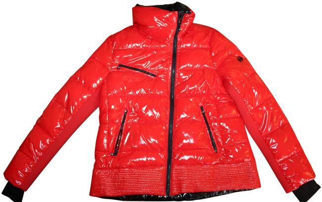 Item - Red Shiny Puffer Jacket M Parka Coat Size 8 (M)