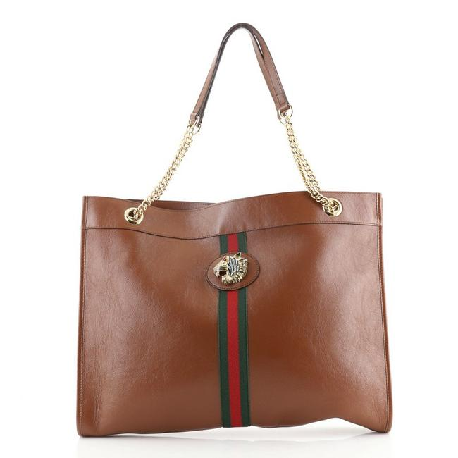 Item - Rajah Chain Large Brown Leather Tote