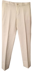 Banana Republic Capris ivory pattern