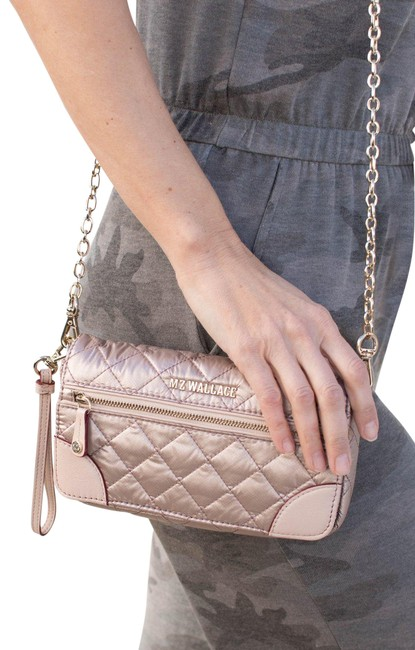 Item - Crosby Convertible Rose Gold Quilted Nylon Cross Body Bag