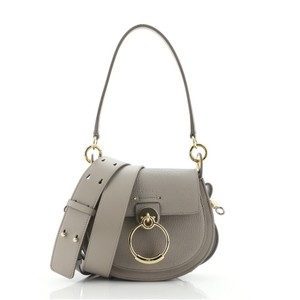 Item - Chloé Tess Small Gray Leather Cross Body Bag