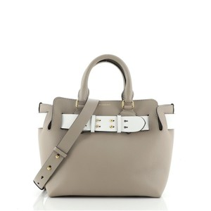 Item - Belt Small Gray Leather Tote
