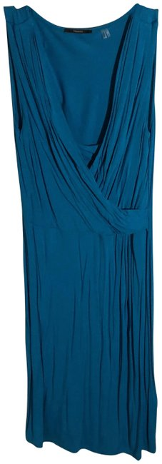 Item - Teal Mid-length Work/Office Dress Size 8 (M)