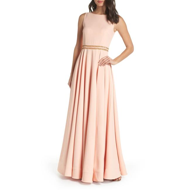 Item - Pink Beaded Waist A-line Gown Modest Bridesmaid/Mob Dress Size 0 (XS)