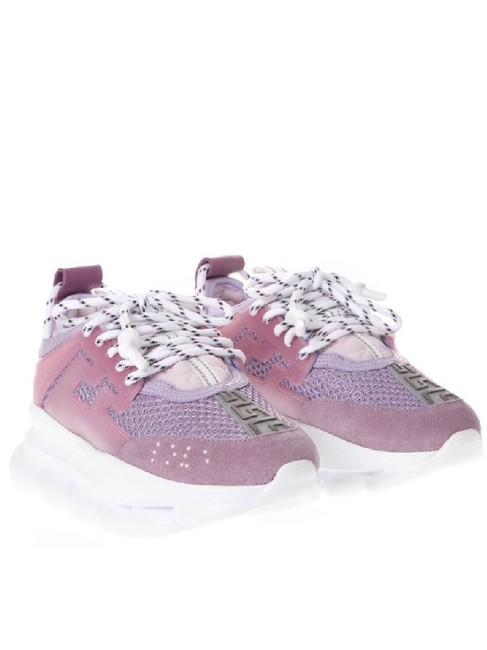 Item - Pink Lavender White Chain Reaction Sneakers Size EU 39 (Approx. US 9) Regular (M, B)
