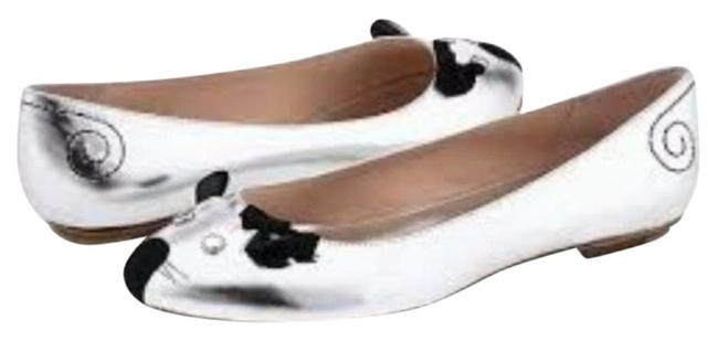 Item - Silver Black Limited Edition Mouse Flats Size EU 38 (Approx. US 8) Regular (M, B)