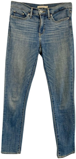 Item - Blue Distressed 311 Shaping Skinny Jeans Size 28 (4, S)