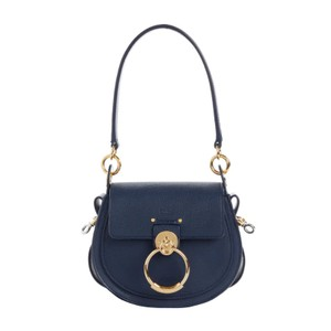 Item - Chloé Medium Tess Lambskin 2020 Blue Leather Shoulder Bag