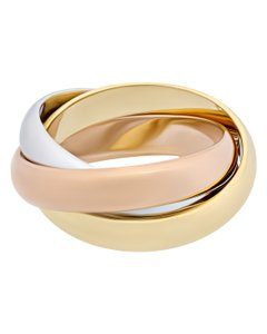 Item - 18k Yellow White Rose Gold Trinity 5.75 Ring