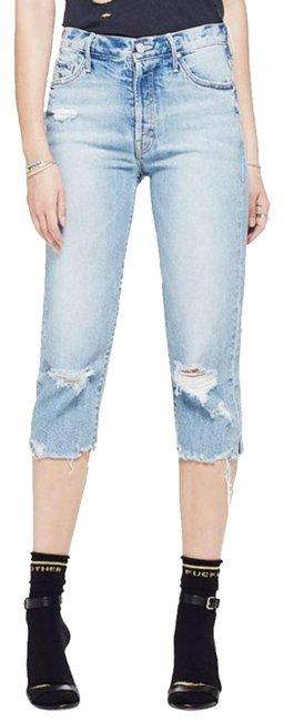 Item - Blue Distressed Superior The Almost Saint Confession Straight Leg Jeans Size 30 (6, M)