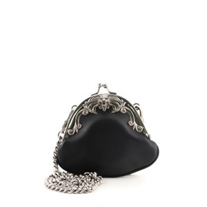 Item - Black Animalier Kiss Lock Coin Purse Leather Small Wallet