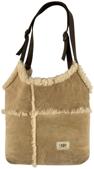 Item - Sherpa Beige Suede Leather Shoulder Bag