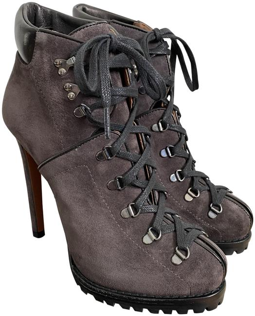 Item - Gray Azzedine Dark Suede Lace Up Stiletto Hiking Boots/Booties Size EU 36.5 (Approx. US 6.5) Regular (M, B)