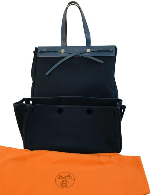 Item - Herbag Cabas Toile Navy Canvas Tote