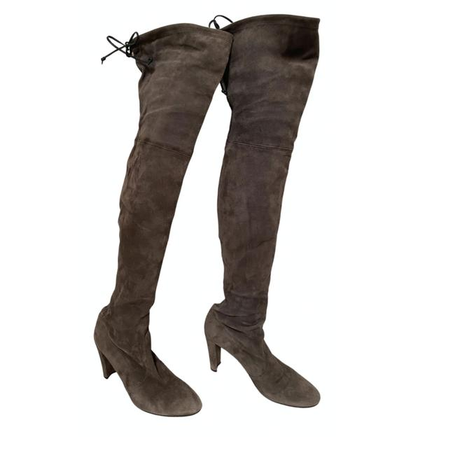 Item - Grey Highland Over The Knee Boots/Booties Size US 9 Regular (M, B)