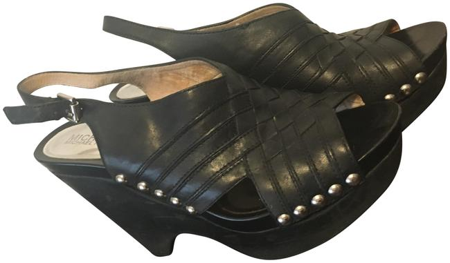 Item - Black Leather Platforms Size US 9 Regular (M, B)