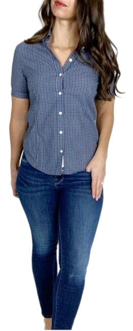 Item - Blue Red Cotton Shirt Button-down Top Size 2 (XS)
