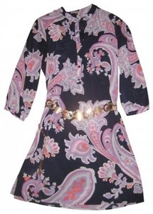Gap short dress Navy, with white and pink paisley Great Style Shift A Button Placket At The Ne on Tradesy
