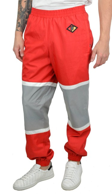 Item - Red Black White Colorblock Striped Track Pants Size 6 (S, 28)