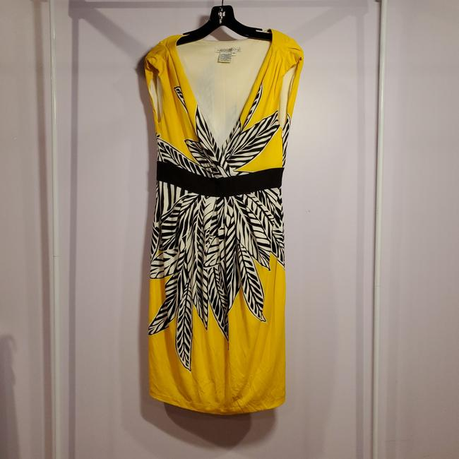 Item - Yellow White Black 58142 Mid-length Casual Maxi Dress Size 10 (M)