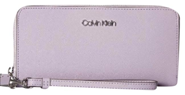 Item - Purple Silver Ck Zip Continental Wallet
