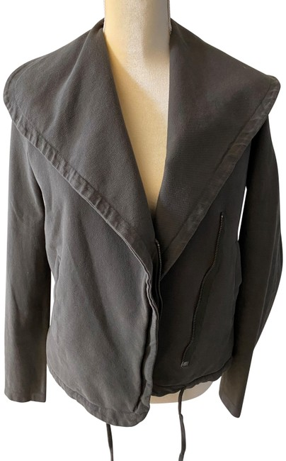 James Perse Gray Green Asymmetrica Zip-up Jacket Size 0 (XS) James Perse Gray Green Asymmetrica Zip-up Jacket Size 0 (XS) Image 1