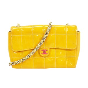 Item - Chocolate Bar Women's Yellow Patent Leather Shoulder Bag