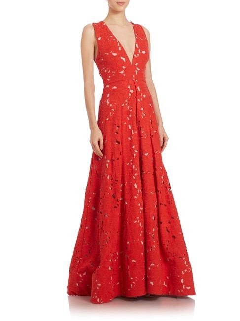 Item - Red Lace Long Formal Dress Size 10 (M)