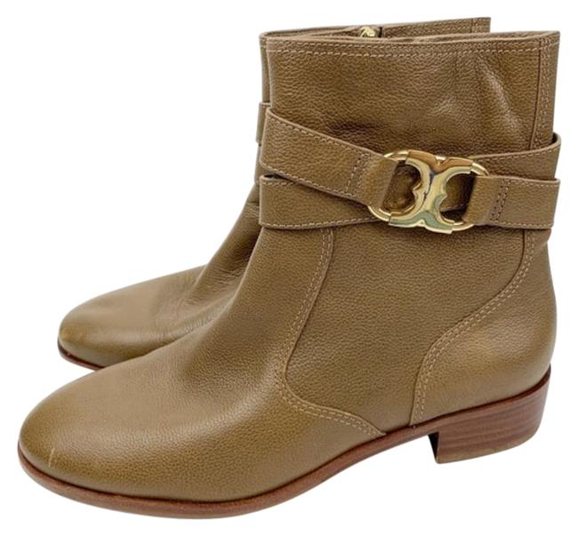 Item - Tan Gemini Link Tab Leather Ankle Boots/Booties Size US 7 Regular (M, B)
