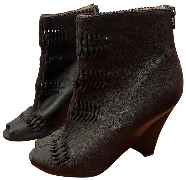 Item - Krosby Cutout Peep Ankle Boots/Booties Size US 9 Regular (M, B)