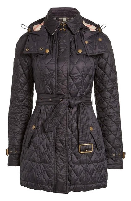 Item - Black Finsbridge Belted Quilted Check Jacket Small Coat Size 4 (S)