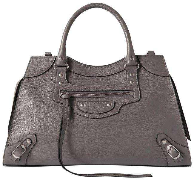 Item - Neo Classic City Medium Textured-leather Gray Leather Tote
