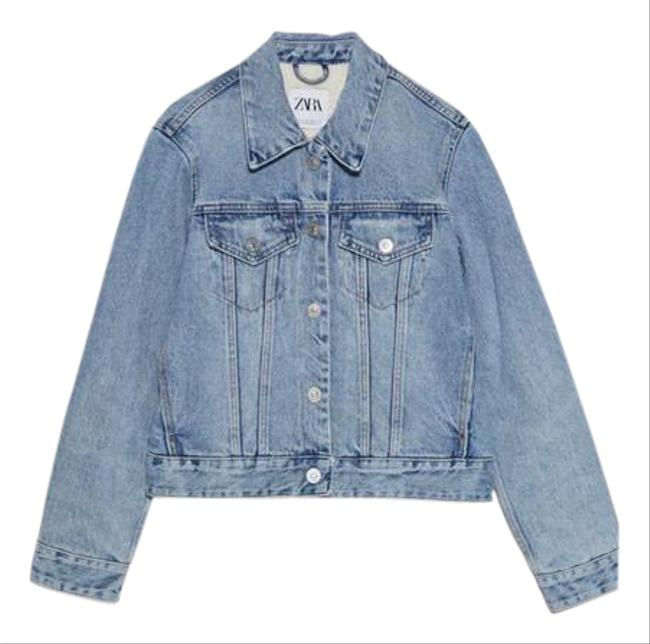 Item - Blue With Faux Shearling Sz-m Jacket Size 8 (M)