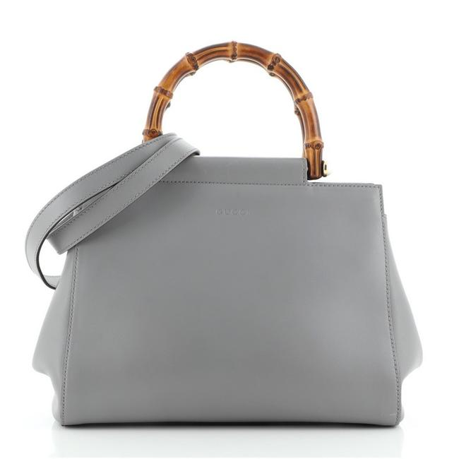 Item - Nymphaea Small Gray Leather Tote