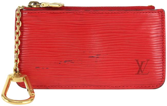 Item - Red Key Pouch Pochette Epi Cles Coin Purse Keychain 18lvs1231 Wallet