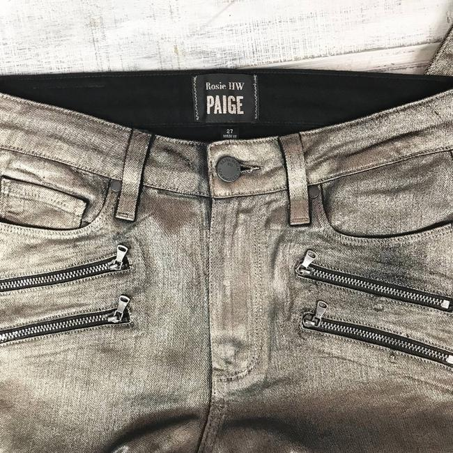 Paige Gold Coated X Rosie Huntington-whiteley Stevie In Galaxy Skinny Jeans Size 27 (4, S) Paige Gold Coated X Rosie Huntington-whiteley Stevie In Galaxy Skinny Jeans Size 27 (4, S) Image 8