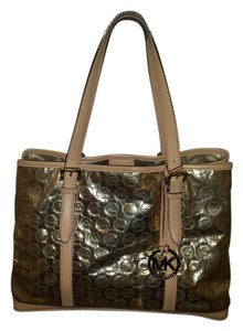 MICHAEL Michael Kors Classic Hardware Preppy Exclusive Tote in Gold