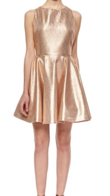 Item - Gold with Pink Undertones Lia Short Cocktail Dress Size 6 (S)
