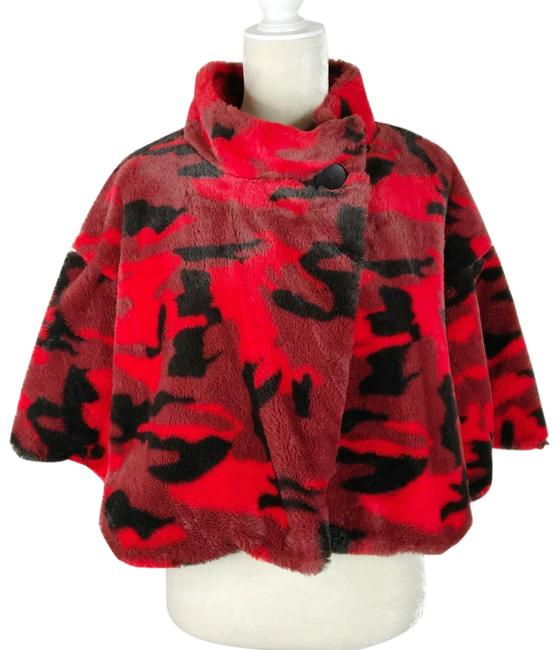 Item - Red Camo Jungle Crop Jacket Poncho/Cape Size 8 (M)