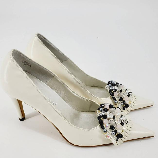 Item - Cream Bauble Embellished Point Stiletto 7n Pumps Size US 7 Narrow (Aa, N)