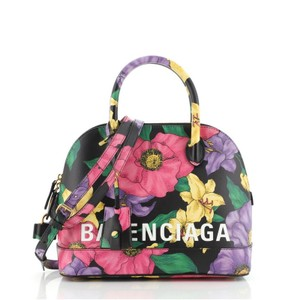Item - Logo Ville Printed Small Multicolor Leather Satchel