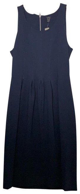 Item - Navy A7523 Mid-length Short Casual Dress Size 8 (M)